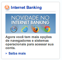 Caixa Safari Firefox Chrome