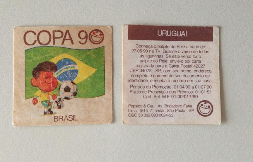 Figurinhas Copa 90