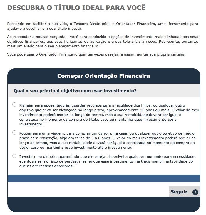 Tesouro Direto - Orientador Financeiro