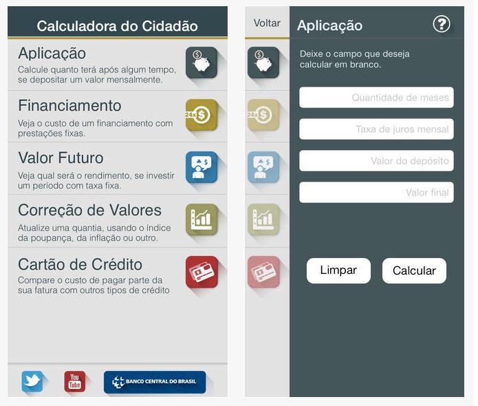 App Calculadora do Cidadão