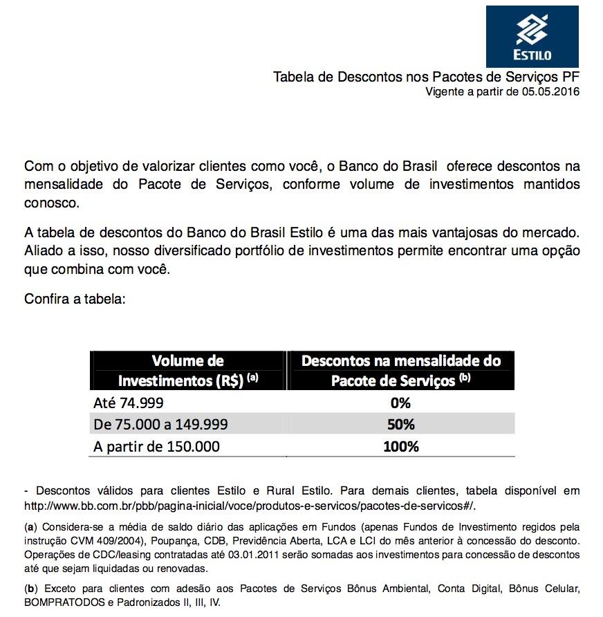 BB Estilo Tarifas